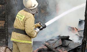 Под Курском сгорел дачный домик