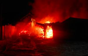 В Липецке в Чаплыгинском районе ночью сгорел гараж