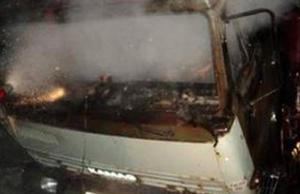 В Белгороде сгорел автомобиль КамАЗ