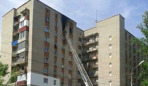 В Железногорске Курской области в малосемейке сгорела квартира