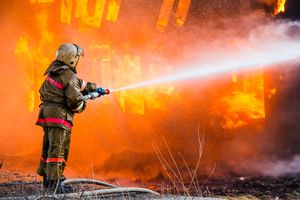 В Прохоровке Белгородской области вечером горел дом