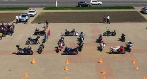Курские байкеры устроили праздник в честь 300-летнего юбилея полиции