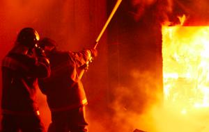 В Курской области сгорел дом