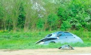 Под Липецком «ВАЗ» врезался в грузовик «Scania», водитель погиб