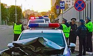 В Белгороде произошло ДТП с участием сотрудников ДПС