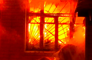 В Усманском районе Липецкой области горел дом