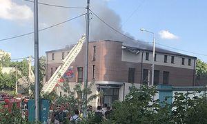 В Белгороде на Лермонтова горело здание студии «Радио Radio»