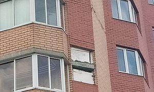 Видео как в Курске рушится дом показали на федеральном канале