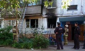 В Курске в многоэтажке на Союзной сгорела квартира