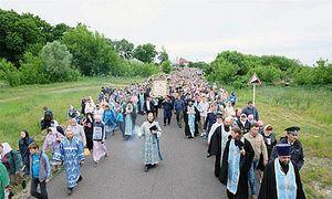 В Курской области состоялся Крестный ход с «Пряжевской» иконой
