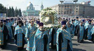 """В Курске начинается Крестный ход с иконой Божией Матери """"Знамение"""""""