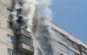 В Губкине горел девятиэтажный дом