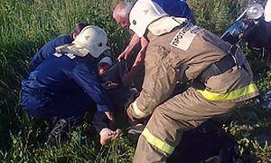 Два мотоциклиста вылетели в кювет в Курской области