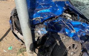 Два человека пострадали в ДТП со столбом в Левобережном районе Воронежа