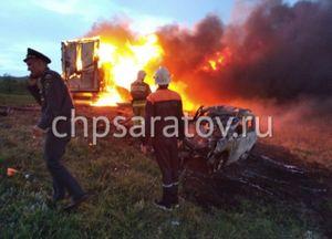 Два человека погибли в сгоревшем «Volkswagen Tiguan» на трассе под Саратовом