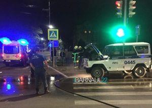 Три человека ранены в аварии с машиной ППС в Барнауле