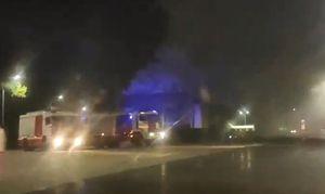 Пост ДПС сгорел на выезде из Курска в сторону Москвы