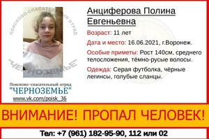 В Воронеже без вести пропала 11-летняя девочка
