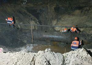 Продолжаются работы по восстановлению водопровода на левом берегу Воронежа