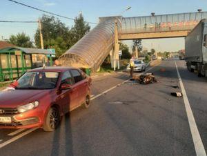 Мотоциклист пострадал в ДТП на трассе в Воронежской области