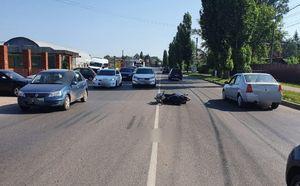 В Курске на ул. Станционной мотоциклист врезался в ВАЗ