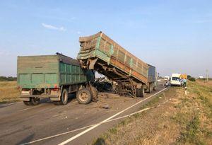 Два человека пострадали в массовом ДТП с грузовиками в Ростовской области