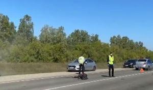 Мотоциклист погиб при столкновении с SsangYong на Змеиногорском тракте
