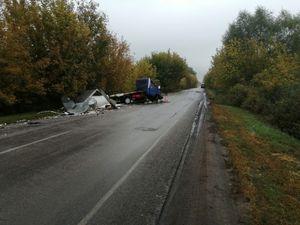 Два человека пострадали в ДТП с тремя грузовиками под Воронежем