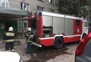 Восемь человек спасли из горящей пятиэтажки на Гагарина в Курске